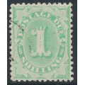 AUSTRALIA - 1902 1/- emerald Postage Due, perf. 12:11½, upright watermark, used – SG # D19