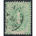 AUSTRALIA - 1902 4d emerald Postage Due, blank base, perf. 12:11½, upright watermark, used – SG # D5w