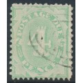 AUSTRALIA - 1907 4d light green Postage Due, perf. 12:11, crown single-lined A watermark, used – SG # D49