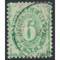 AUSTRALIA - 1908 6d emerald Postage Due, perf. 12:11, crown single-lined A watermark, used – SG # D50