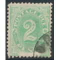 AUSTRALIA - 1902 2d emerald Postage Due, blank base, perf. 12:11½, upright watermark, used – SG # D3