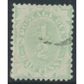 AUSTRALIA - 1907 ½d light green Postage Due, perf. 12:11, crown single-lined A watermark, used – SG # D45