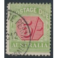 AUSTRALIA - 1909 5/- rose-red/green Postage Due, perf. 12½:12, crown A watermark, used – SG # D71