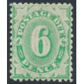 AUSTRALIA - 1904 6d emerald Postage Due, perf. 12:11, inverted watermark, MH – SG # D28