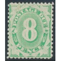 AUSTRALIA - 1904 8d emerald Postage Due, perf. 12:11, inverted watermark, MH – SG # D29