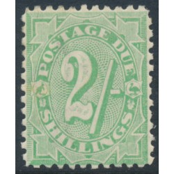 AUSTRALIA - 1909 2/- dull green Postage Due, perf. 11:11, crown A watermark, MH – SG # D60