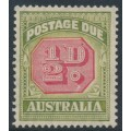AUSTRALIA - 1938 ½d carmine/green Postage Due, 'white flaw under full stop', MNH – ACSC # D122