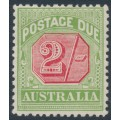 AUSTRALIA - 1909 2/- rose-red/green Postage Due, perf. 12½:12, crown A watermark, MH – SG # D70