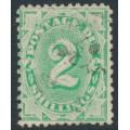 AUSTRALIA - 1902 2/- emerald Postage Due, perf. 12:11½, upright watermark, used – SG # D20