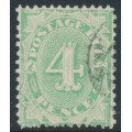 AUSTRALIA - 1903 4d emerald Postage Due, perf. 12:11, upright watermark, used – SG # D26w