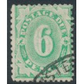 AUSTRALIA - 1904 6d emerald Postage Due, perf. 12:11, inverted watermark, used – SG # D28