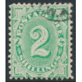AUSTRALIA - 1902 2/- emerald Postage Due, perf. 12:11, upright watermark, used – SG # D32