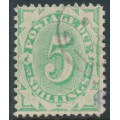 AUSTRALIA - 1903 5/- emerald Postage Due, perf. 12:11, inverted watermark, used – SG # D33