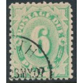 AUSTRALIA - 1904 6d emerald Postage Due, perf. 11:11, inverted watermark, used – SG # D40