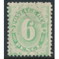 AUSTRALIA - 1908 6d green Postage Due, perf. 12:11, upright watermark, used – SG # D50