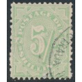 AUSTRALIA - 1908 5/- dull green Postage Due, perf. 11½:11, crown A watermark, used – SG # D59