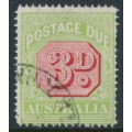 AUSTRALIA - 1916 3d carmine/pale green Postage Due, perf. 14, crown A watermark, used – SG # D82
