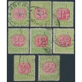AUSTRALIA - 1922 ½d to 6d red/green Postage Dues set of 8, crown A watermark, used – SG # D91-D98