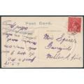 AUSTRALIA - 1917 1d deep red (aniline) KGV Head (shade = G61) on a postcard – ACSC # 72B