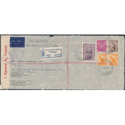 AUSTRALIA - 1941 10/- Robes on aborted California Clipper cover, posted after Pearl Harbour – ACSC # 178B+202A+211A+214A