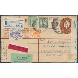 AUSTRALIA - 1955 cover with 4/9 franking to Czechoslovakia plus a Czech stamp paying import duties
