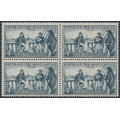AUSTRALIA - 1959 4d slate Post Office Anniversary in a block of 4, MNH – SG # 331
