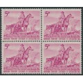 AUSTRALIA - 1960 5d magenta Northern Territory in a block of 4, MNH – SG # 335
