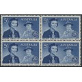 AUSTRALIA - 1960 5d blue Girl Guides in a block of 4, MNH – SG # 334