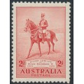 AUSTRALIA - 1935 2d carmine-red KGV Silver Jubilee with a variety, MNH – SG # 156