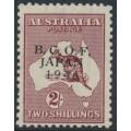 AUSTRALIA - 1946 2/- maroon Kangaroo overprinted BCOF, MNH – SG # J6