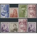AUSTRALIA - 1963-1965 4/- to £2 Navigators set of 8, MNH – SG # 355-360 + 358a + 359a