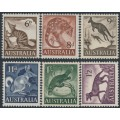 AUSTRALIA - 1959-1962 6d to 1/2 Australian Animals set of 6, MNH – SG # 316-321