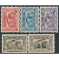 AUSTRALIA - 1931 2d to 6d Kingsford Smith Airmail set of 5, MH – SG # 121-123 + 139 + 139a