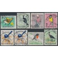 AUSTRALIA - 1964-1965 6d to 3/- Native Birds set of 8, used – SG # 363-369 + 367a