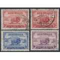 AUSTRALIA - 1934 2d to 9d MacArthur Centenary set of 4, used – SG # 150-152 + 150a