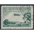 AUSTRALIA - 1929 3d green Airmail (vertical mesh paper), CTO – ACSC # 134w