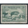 AUSTRALIA - 1932 5/- blue-green Sydney Harbour Bridge, CTO – SG # 143
