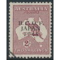 AUSTRALIA - 1946 2/- maroon Kangaroo overprinted BCOF, used (fake cancel) – SG # J6