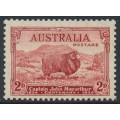AUSTRALIA - 1934 2d carmine-red (dark hills) MacArthur Centenary, MNH – SG # 150a
