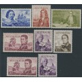 AUSTRALIA - 1963-1965 4/- to £2 Navigators set of 8, MH – SG # 355-360 + 358a + 359a