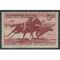 AUSTRALIA - 1964 5/- brown-red Cattle on white paper, MNH – SG # 327a