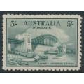 AUSTRALIA - 1932 5/- blue-green Sydney Harbour Bridge, mint hinged – SG # 143