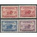 AUSTRALIA - 1934 2d to 9d MacArthur Centenary set of 4, mint hinged – SG # 150-152+150a