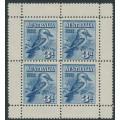 AUSTRALIA - 1928 3d blue Kookaburra M/S, mint hinged – SG # MS106a