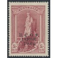 AUSTRALIA - 1947 5/- claret Robes on thick paper overprinted BCOF, mint hinged – SG # J7