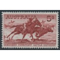 AUSTRALIA - 1964 5/- brown-red Cattle on white paper, MH – SG # 327a