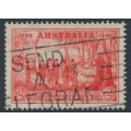 AUSTRALIA - 1937 2d scarlet NSW Anniversary, 'man with tail', used – ACSC # 175e