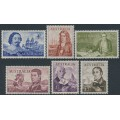AUSTRALIA - 1963-1964 4/- to £2 Navigators set of 6, MNH – SG # 355-360