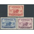 AUSTRALIA - 1934 2d to 9d MacArthur Centenary set of 3, MNH – SG # 150-152