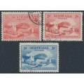 AUSTRALIA - 1932 2d red & 3d blue Sydney Harbour Bridge set of 3, CTO – SG # 141+142+144